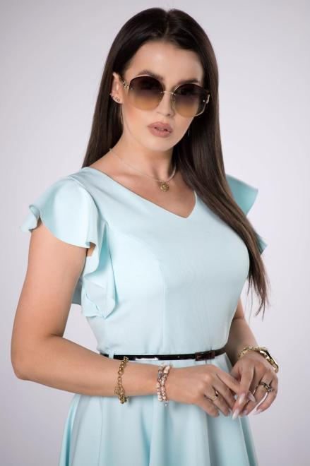 MILLAU  rozkloszowana sukienka z paskiem M84243 Платье Голубой оптом