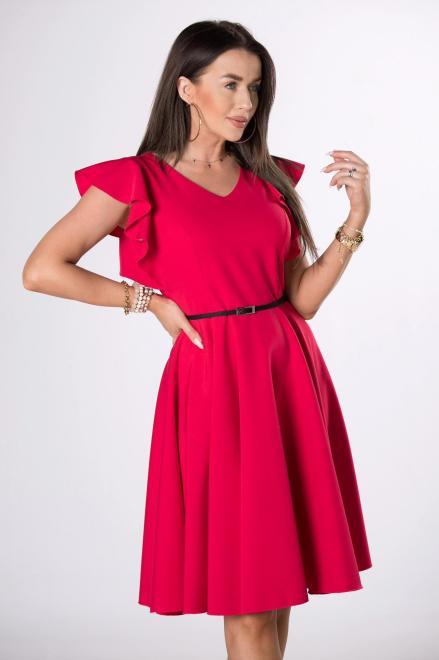 MILLAU  rozkloszowana sukienka z paskiem M84243 Платье Красный оптом