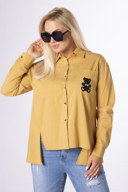 MONIKA  koszula z aplikacją M84181 Блузка Желтый оптом