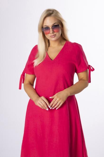MODA DOROTHY  trapezowa sukienka z wiązaniem M84216 Платье Розовый оптом