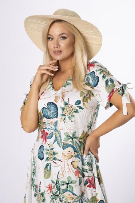 MODA DOROTHY  trapezowa sukienka midi M84176 Платье Кремовый оптом