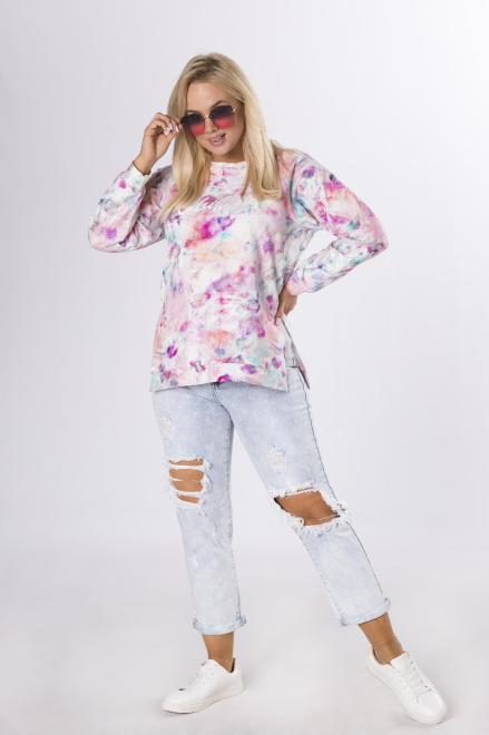 NO STRESS  bluza z efektem tie dye M84232 Блуза Multikolor оптом