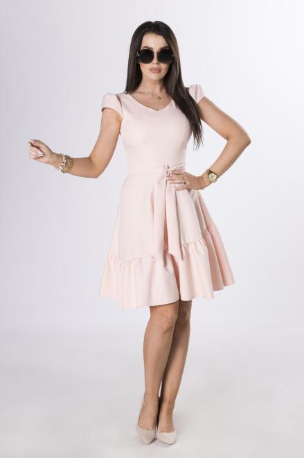 MILLAU  koktajlowa sukienka z wiązaniem M84244 Платье Розовый оптом