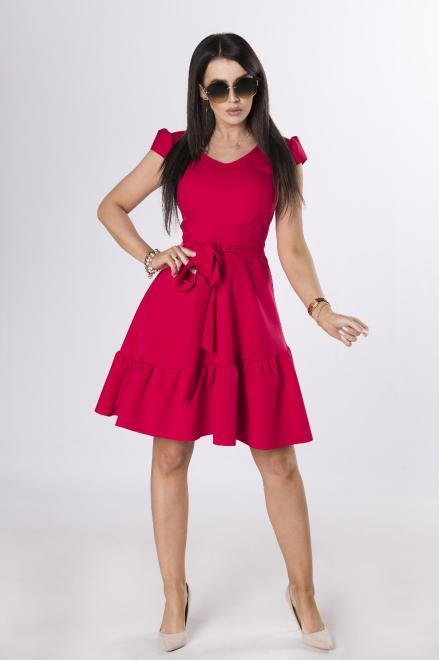 MILLAU  koktajlowa sukienka z wiązaniem M84244 Платье Красный оптом