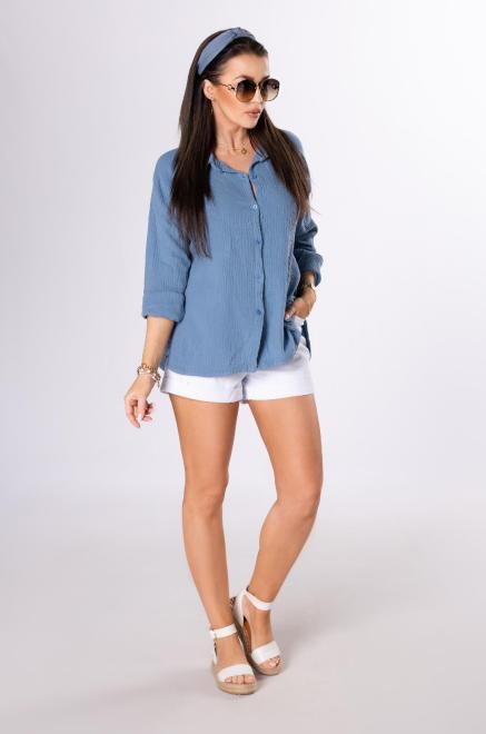 OH MY GOODNESS  koszula z muślinu M84222 Рубашка Голубой оптом