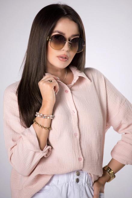 OH MY GOODNESS  koszula z muślinu M84222 Рубашка Розовый оптом