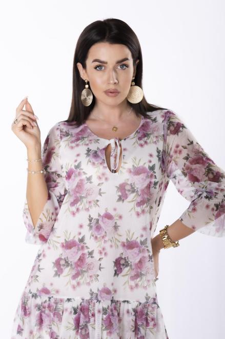 KAJA  wzorzysta sukienka z siatki M84245 Платье Multikolor оптом
