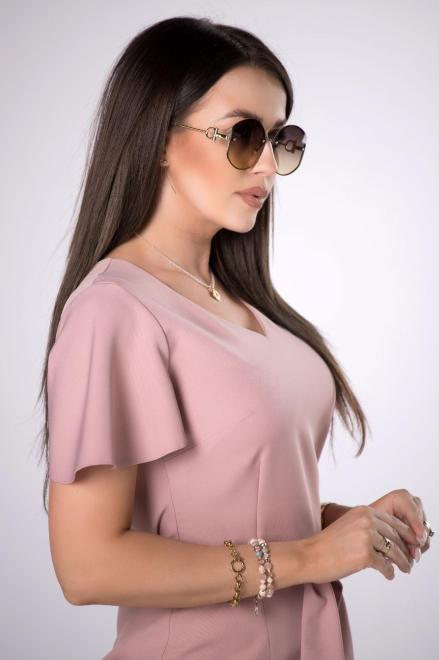 MILLAU  ołówkowa sukienka z rozcięciem M84242 Платье Розовый оптом