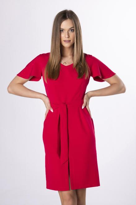 MILLAU  ołówkowa sukienka z rozcięciem M84242 Платье Красный оптом