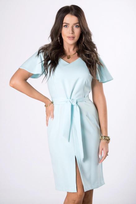 MILLAU  ołówkowa sukienka z rozcięciem M84242 Платье Голубой оптом