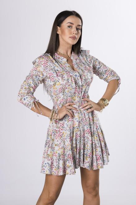 STELLA VERA  rozkloszowana sukienka z falbanami M84319 Платье Multikolor оптом