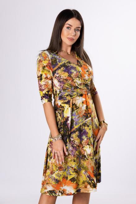 KMX FASHION  sukienka midi z zakładką M75890 Платье Multikolor оптом
