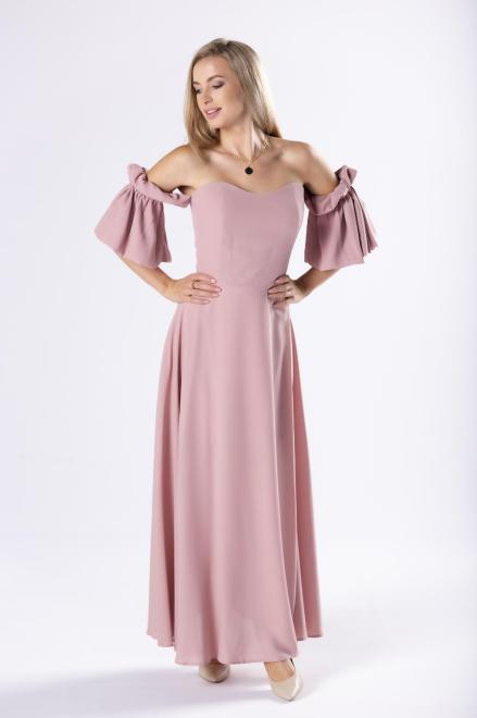 KAJA  elegancka sukienka maxi z gorsetową górą  M81194 Платье Розовый оптом