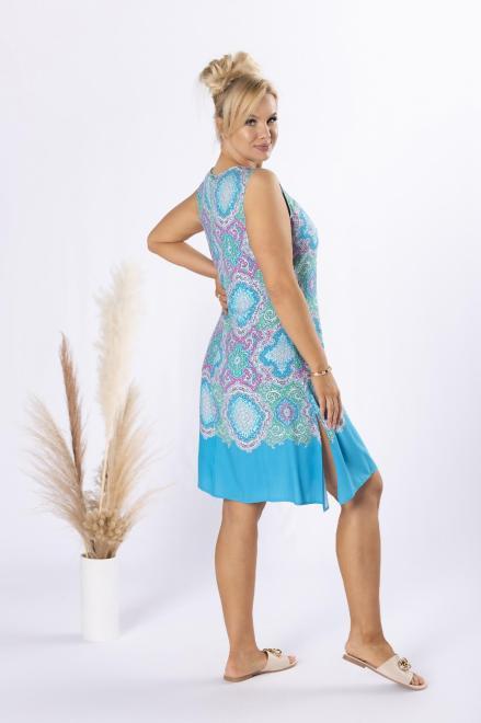 STELLA VERA  trapezowa sukienka z odkrytymi ramionami M80661 Платье Multikolor оптом
