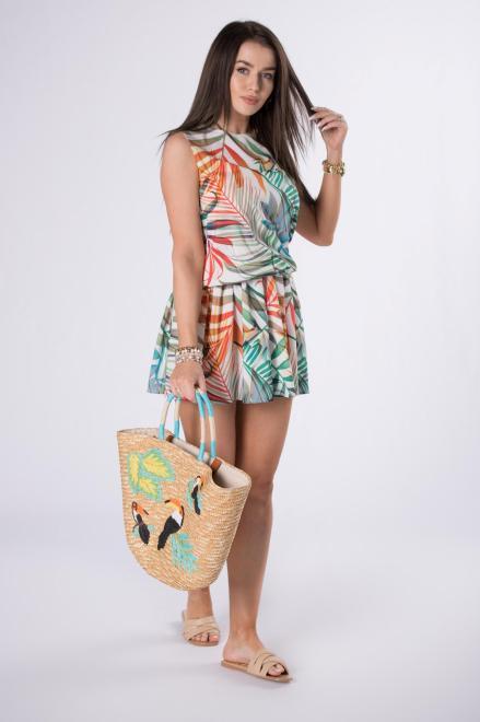 STAY HERE  sukienka mini z printem M84522 Платье Multikolor оптом