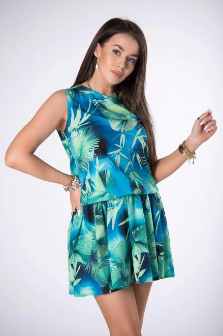 STAY HERE  sukienka mini z printem M84522 Платье Голубой оптом