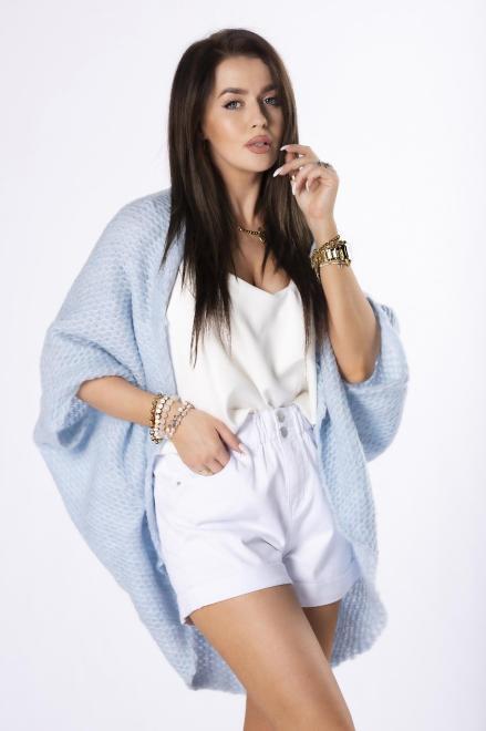 STAY HERE  sweter oversize M84524 Свитер Голубой оптом