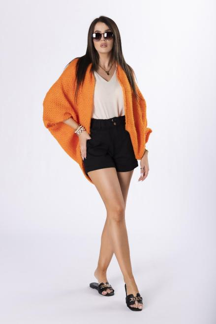 STAY HERE  sweter oversize M84524 Свитер Оранжевый оптом