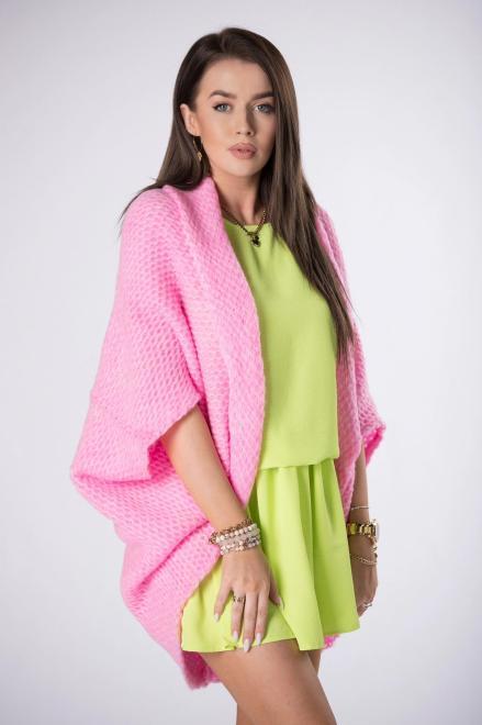 STAY HERE  sweter oversize M84524 Свитер Розовый оптом