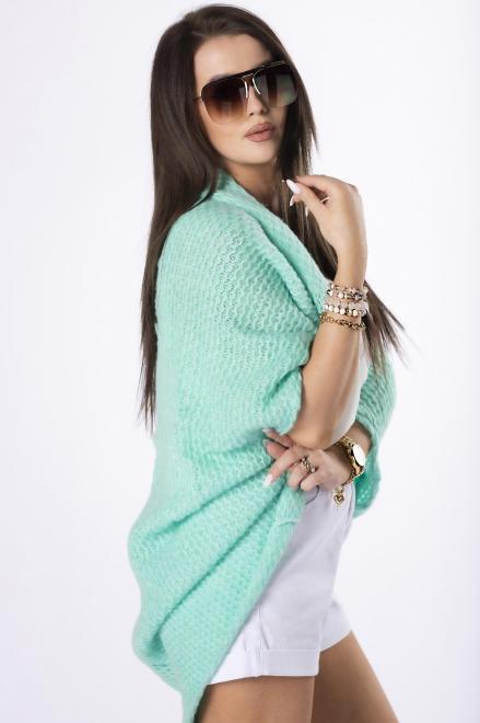 STAY HERE  sweter oversize M84524 Свитер Зеленый оптом