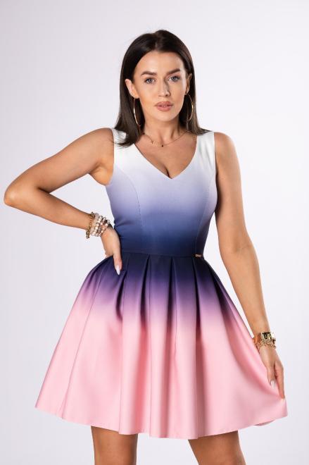 QUARELLE  rozkloszowana sukienka z efektem ombre M81267 Платье Multikolor оптом