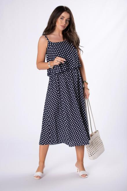 --  Rozkloszowana sukienka midi M84556 Платье Темносиний оптом