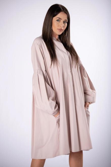 Rivabella  sukienka oversize z bufiastymi rękawami M84460 Платье Бежевый оптом