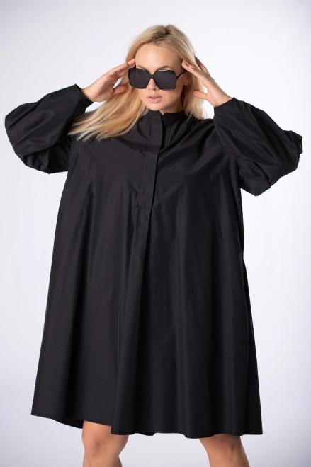 Rivabella  sukienka oversize z bufiastymi rękawami M84460 Платье Черный оптом