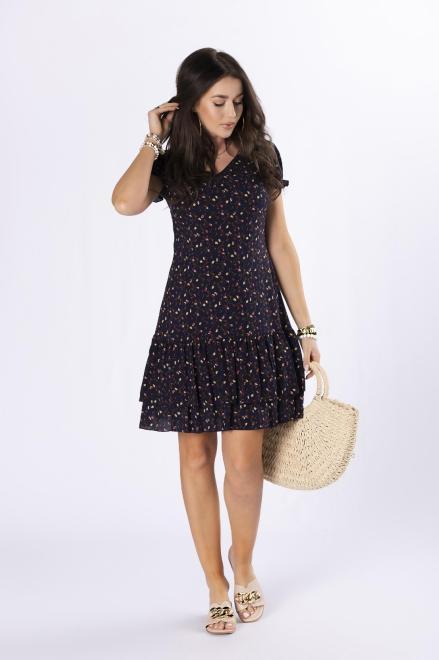 MILLAU  sukienka mini z falbankami M84612 Платье Темносиний оптом