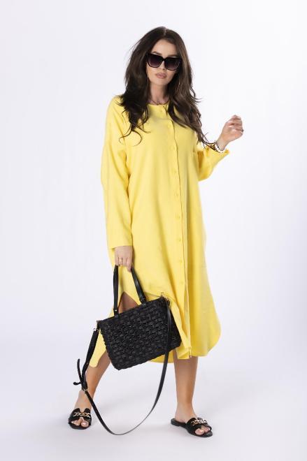 Rivabella  koszulowa sukienka M84665 Платье Желтый оптом