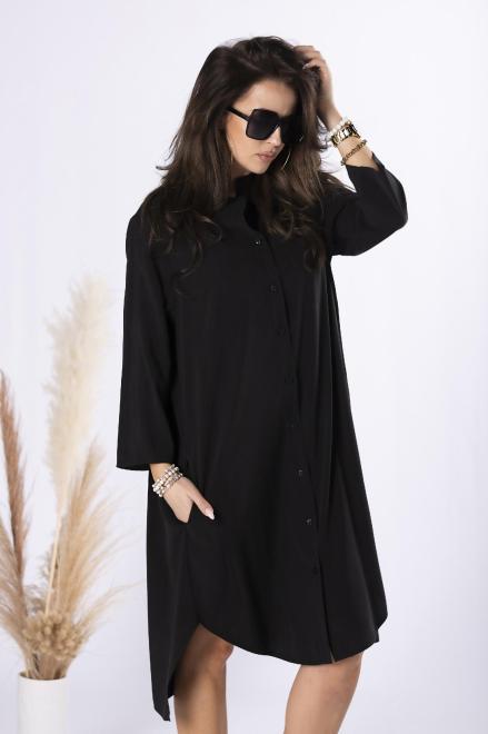 Rivabella  długa koszula oversize M84667 Рубашка Черный оптом
