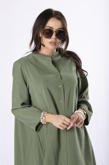Rivabella  długa koszula oversize M84667 Рубашка Зеленый оптом