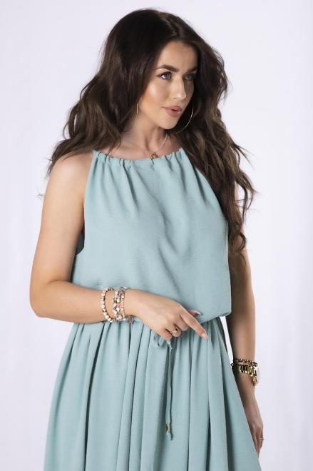 OOH LA LA  sukienka maxi na ramiączkach M84622 Платье Зеленый оптом