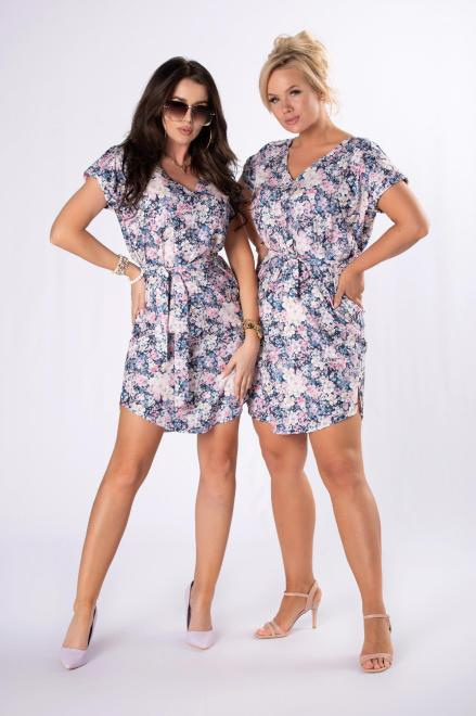LEIN  sukienka z printem M84699 Платье Multikolor оптом