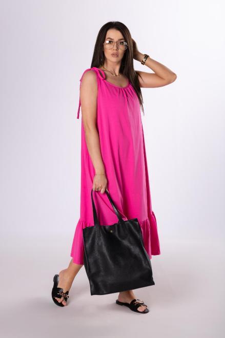 OOH LA LA  sukienka na ramiączkach M84076 Платье Розовый оптом