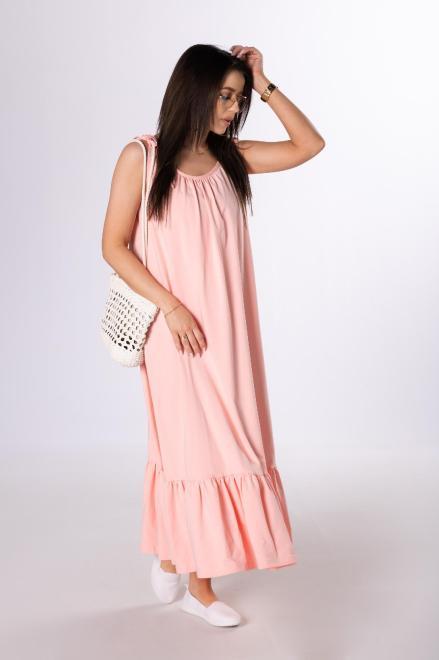 OOH LA LA  sukienka na ramiączkach M84076 Платье Оранжевый оптом