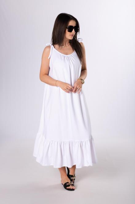 OOH LA LA  sukienka na ramiączkach M84076 Платье Белый оптом
