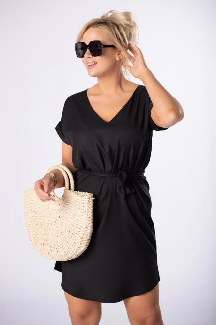 LEIN  sukienka z wiązaniem M84728 Платье Черный оптом