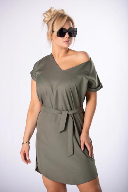 LEIN  sukienka z wiązaniem M84728 Платье Зеленый оптом
