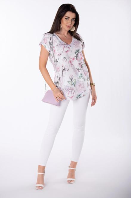 LEIN  bluzka z dekoltem V M84751 Блузка Multikolor оптом