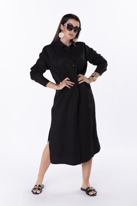 Rivabella  długa koszula z rozcięciami M84733 Рубашка Черный оптом