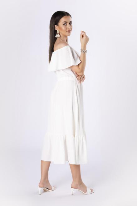 STELLA VERA  sukienka z hiszpańskim dekoltem M84573 Платье Кремовый оптом