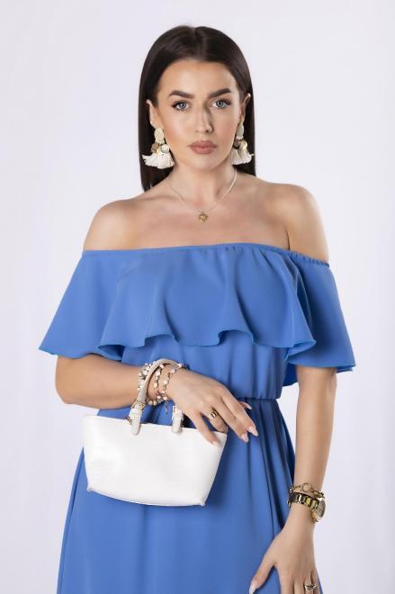 STELLA VERA  sukienka z hiszpańskim dekoltem M84573 Платье Голубой оптом