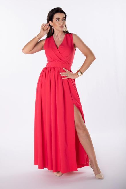 KAJA  sukienka maxi z kopertowym dekoltem M81281 Платье Розовый оптом