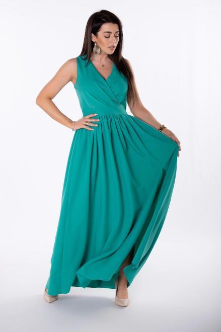 KAJA  sukienka maxi z kopertowym dekoltem M81281 Платье Зеленый оптом