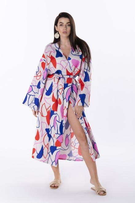 Rivabella  sukienka kimono z wiązaniem M84732 Платье Бежевый оптом