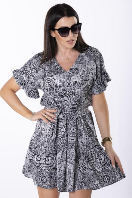 BODOO  sukienka z falbankami M84758 Платье Multikolor оптом