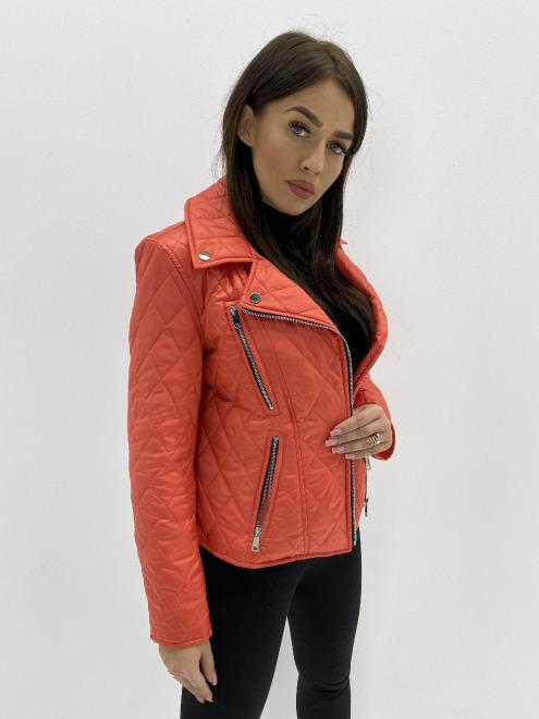 HOLI  pikowana ramoneska M85262 Куртка красный оптом