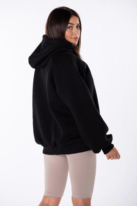 EX MODA  bluza oversize z kapturem M84971 Блуза черный оптом