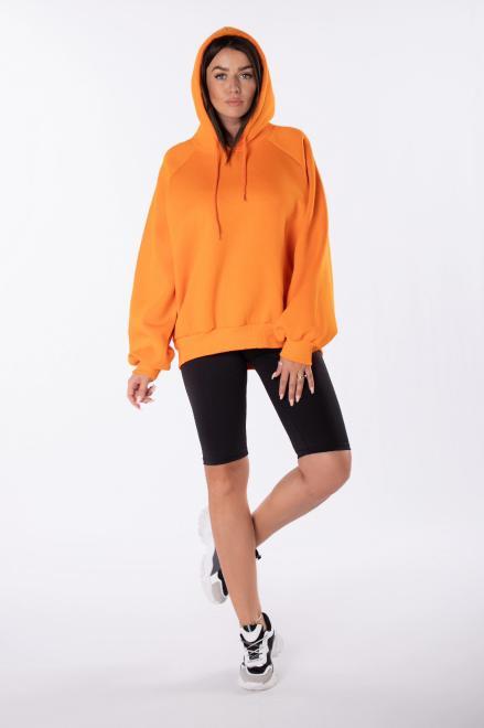 EX MODA  bluza oversize z kapturem M84971 Блуза Оранжевый оптом